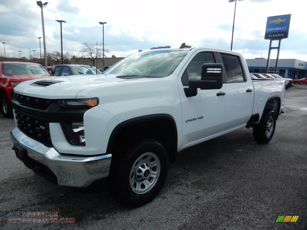 2020 Silverado 2500HD Work Truck Crew Cab 4x4 - Summit White / Jet Black photo #1