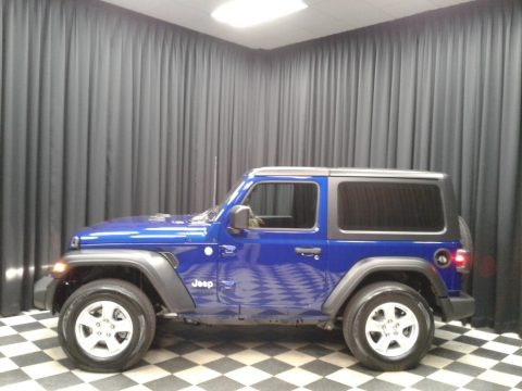 Ocean Blue Metallic 2020 Jeep Wrangler Sport 4x4