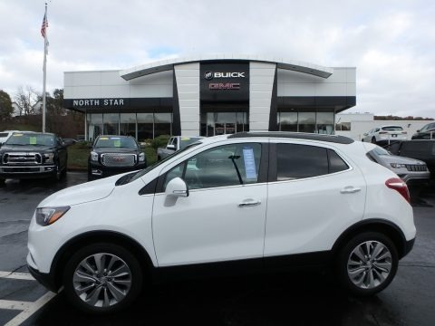Summit White 2018 Buick Encore Preferred