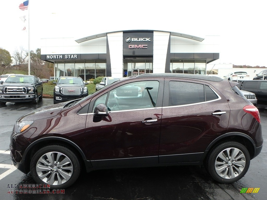 2018 Encore Preferred AWD - Black Cherry Metallic / Ebony photo #1
