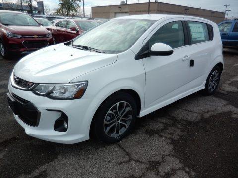 Summit White 2019 Chevrolet Sonic LT Hatchback