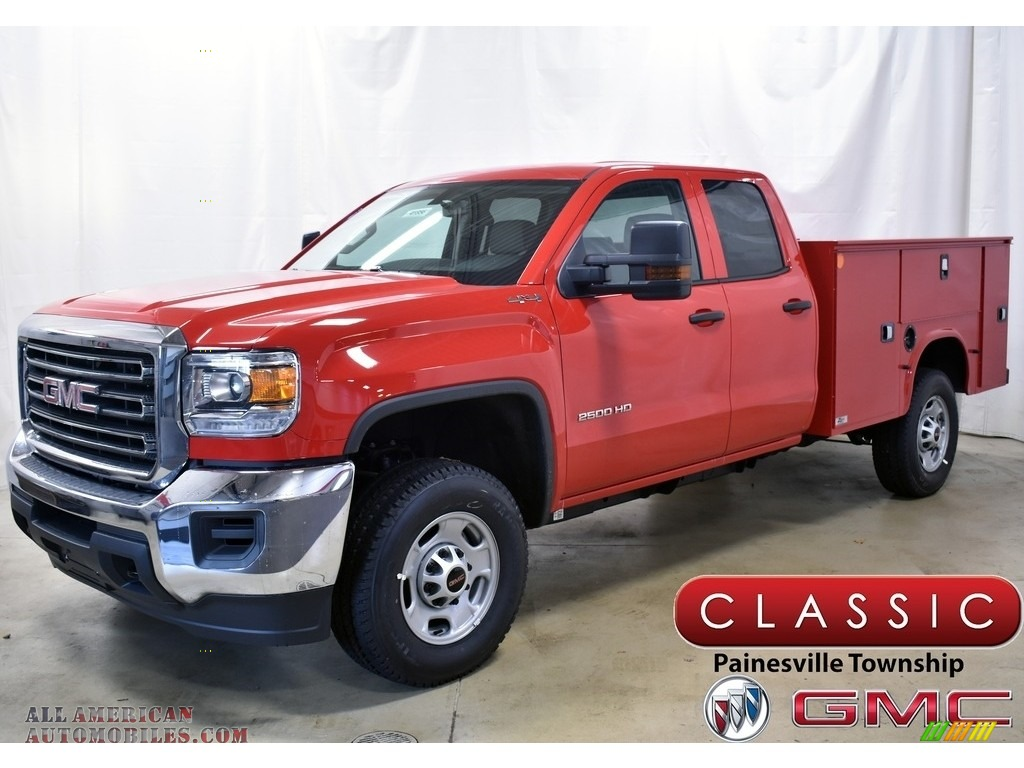 2019 Sierra 2500HD Double Cab 4WD Utility - Cardinal Red / Jet Black/­Dark Ash photo #1