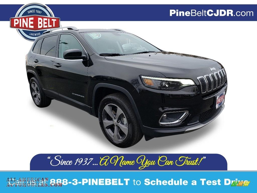 2020 Cherokee Limited 4x4 - Diamond Black Crystal Pearl / Ski Gray/Black photo #1