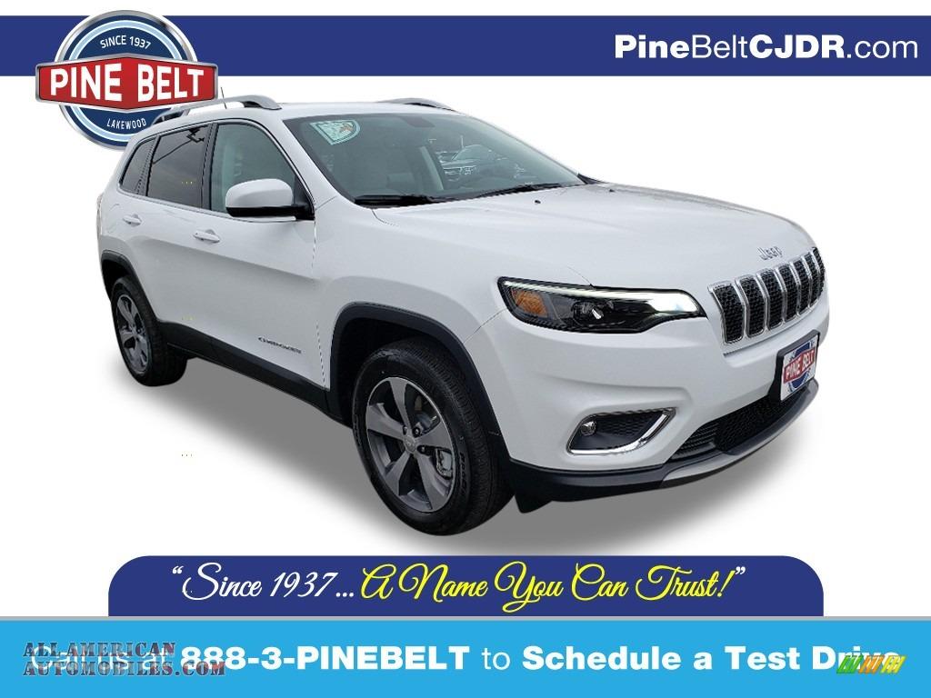 2020 Cherokee Limited 4x4 - Bright White / Ski Gray/Black photo #1