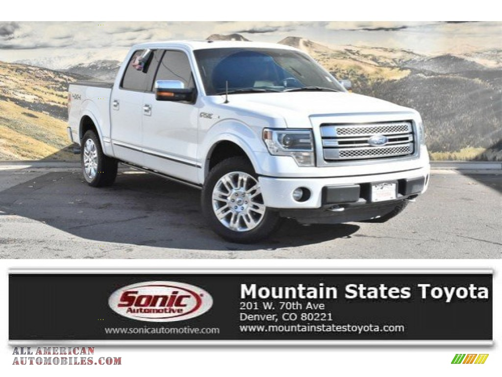 White Platinum Metallic Tri-Coat / Platinum Unique Pecan Leather Ford F150 Platinum SuperCrew 4x4