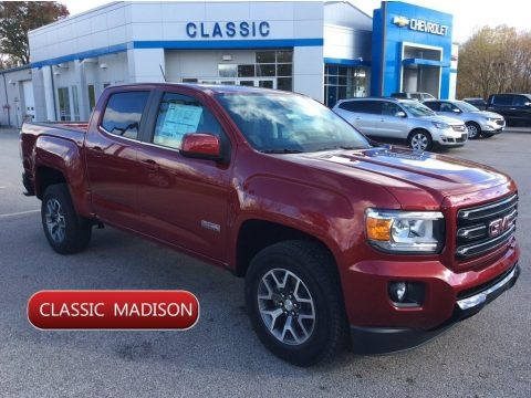 Red Quartz Tintcoat 2020 GMC Canyon SLE Crew Cab 4WD