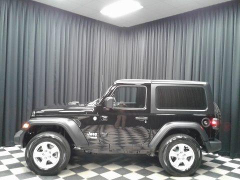 Black 2020 Jeep Wrangler Sport 4x4