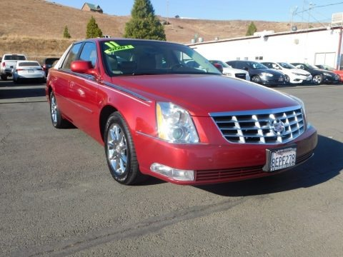 Crystal Red Tintcoat 2011 Cadillac DTS Luxury
