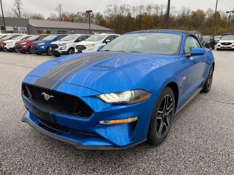 Velocity Blue 2020 Ford Mustang GT Premium Convertible