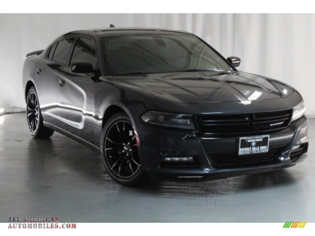 2016 Charger R/T - Maximum Steel Metallic / Black photo #1