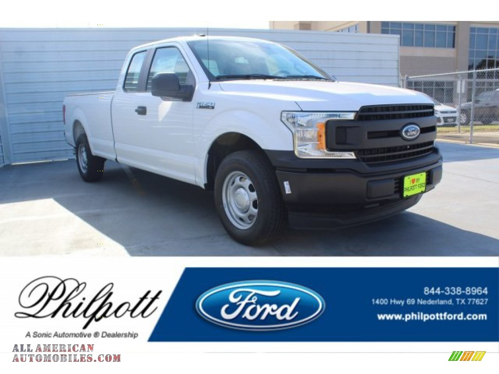 2019 F150 XLT SuperCab - Oxford White / Earth Gray photo #1