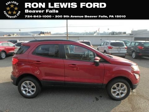 Ruby Red Metallic 2020 Ford EcoSport SE 4WD