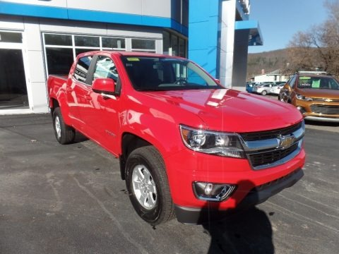 Red Hot 2020 Chevrolet Colorado WT Crew Cab 4x4