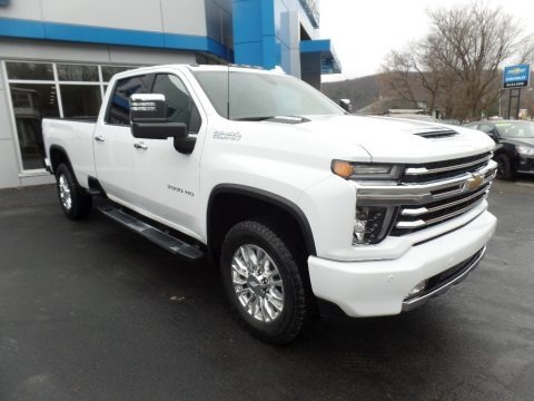 Summit White 2020 Chevrolet Silverado 3500HD High Country Crew Cab 4x4