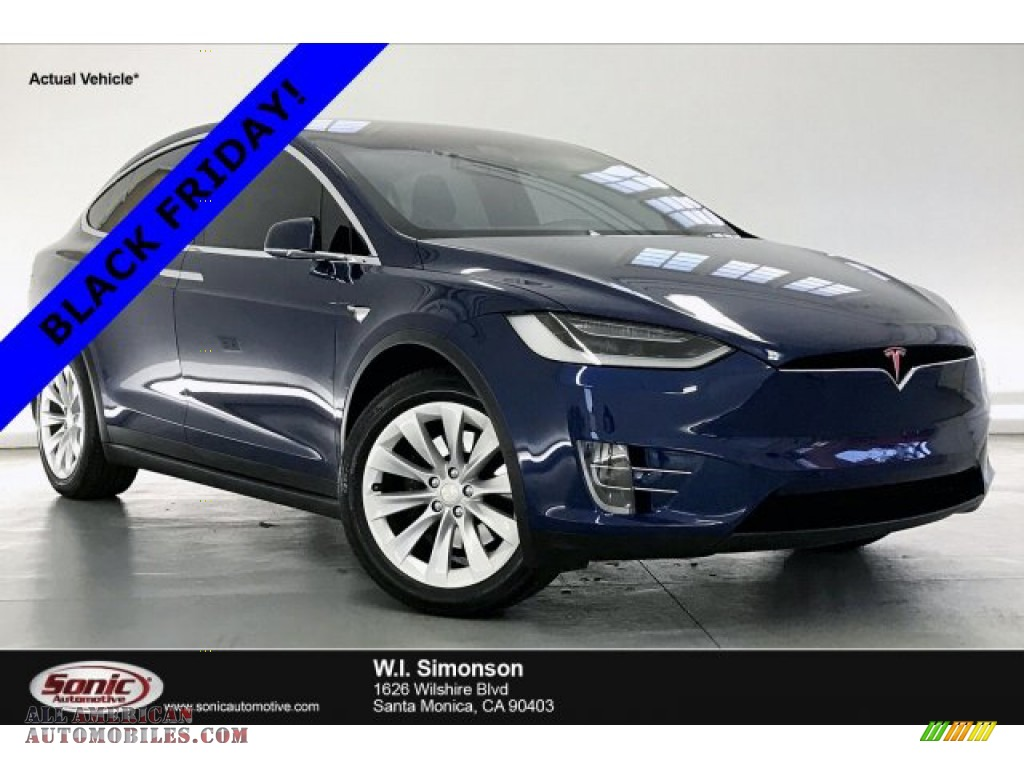 2018 Model X 75D - Deep Blue Metallic / Black photo #1