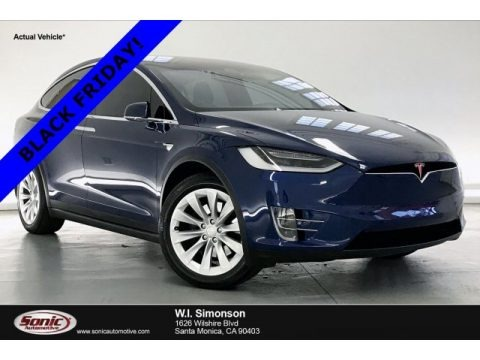 Deep Blue Metallic 2018 Tesla Model X 75D