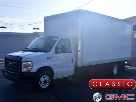Oxford White 2019 Ford E Series Cutaway E350 Commercial Moving Truck