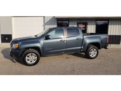 Blue Emerald Metallic 2019 GMC Canyon SLE Crew Cab 4WD