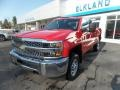 Chevrolet Silverado 2500HD Work Truck Double Cab 4WD Red Hot photo #3