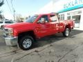Chevrolet Silverado 2500HD Work Truck Double Cab 4WD Red Hot photo #4