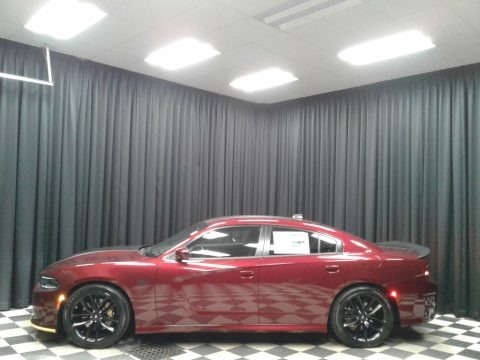 Octane Red Pearl 2019 Dodge Charger Scat Pack Stars & Stripes Edition