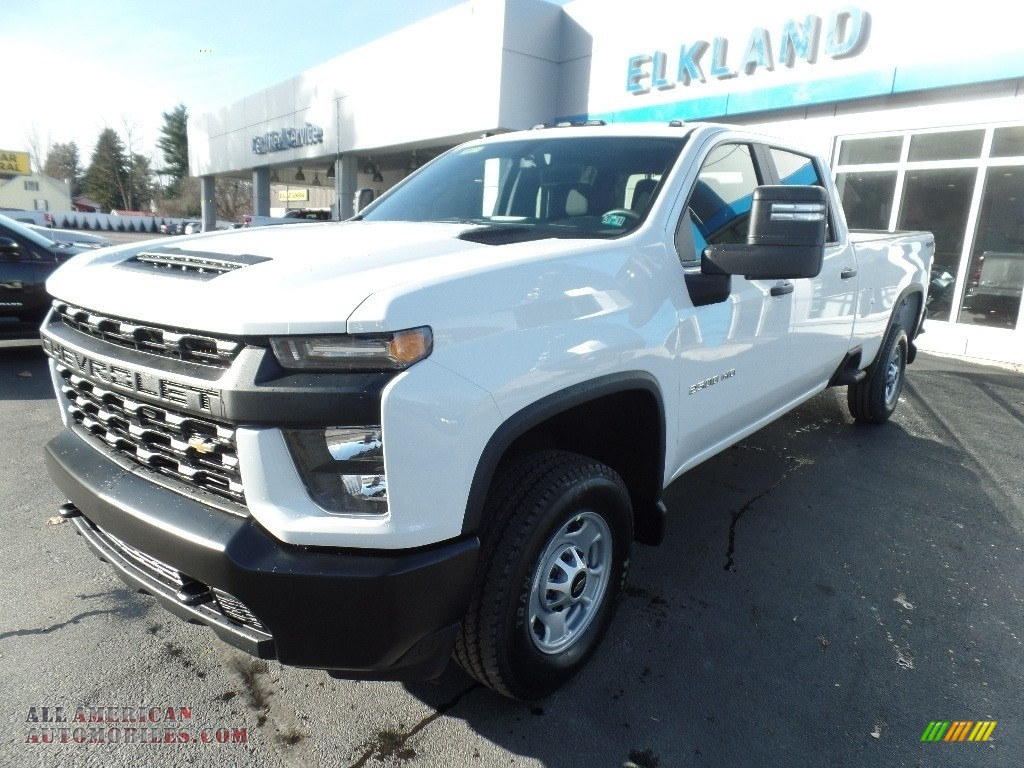2020 Silverado 2500HD Work Truck Crew Cab 4x4 - Summit White / Jet Black photo #3