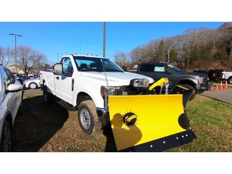 Oxford White 2019 Ford F250 Super Duty XL Regular Cab 4x4 Plow Truck