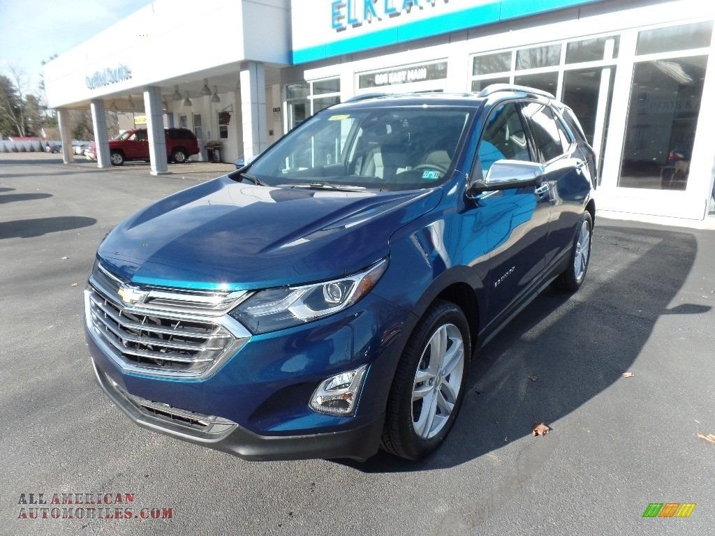 2020 Equinox Premier AWD - Pacific Blue Metallic / Ash Gray photo #3