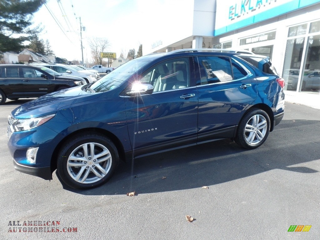 2020 Equinox Premier AWD - Pacific Blue Metallic / Ash Gray photo #4