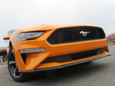 Orange Fury 2018 Ford Mustang EcoBoost Fastback