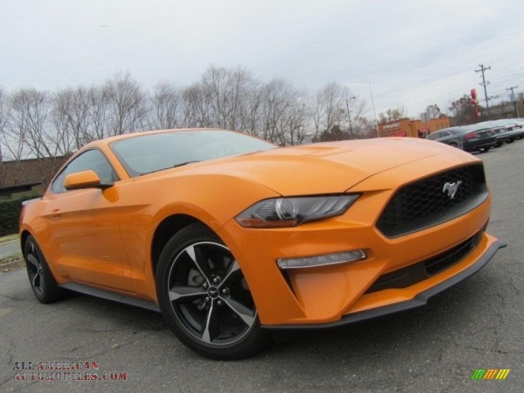 2018 Mustang EcoBoost Fastback - Orange Fury / Ebony photo #2