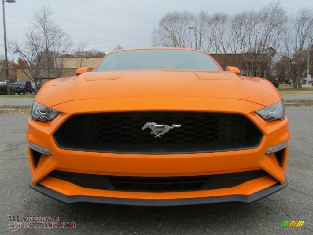 2018 Mustang EcoBoost Fastback - Orange Fury / Ebony photo #4