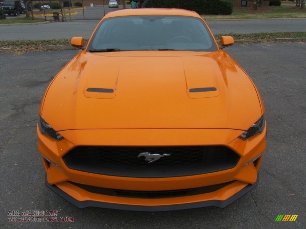 2018 Mustang EcoBoost Fastback - Orange Fury / Ebony photo #5