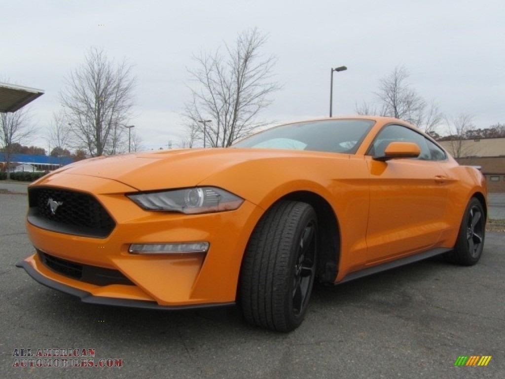 2018 Mustang EcoBoost Fastback - Orange Fury / Ebony photo #6
