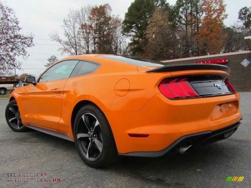 2018 Mustang EcoBoost Fastback - Orange Fury / Ebony photo #8