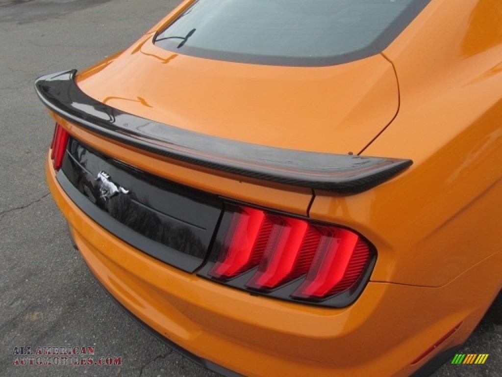 2018 Mustang EcoBoost Fastback - Orange Fury / Ebony photo #21
