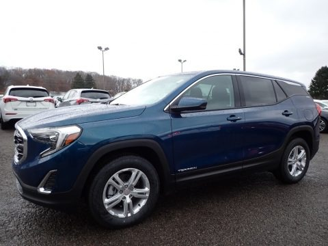 Blue Emerald Metallic 2020 GMC Terrain SLE AWD