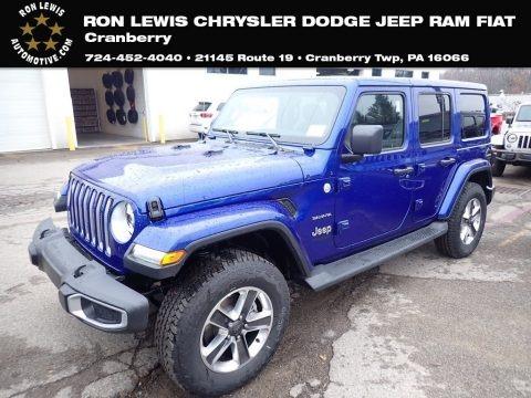 Ocean Blue Metallic 2020 Jeep Wrangler Unlimited Sahara 4x4