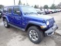 Jeep Wrangler Unlimited Sahara 4x4 Ocean Blue Metallic photo #7