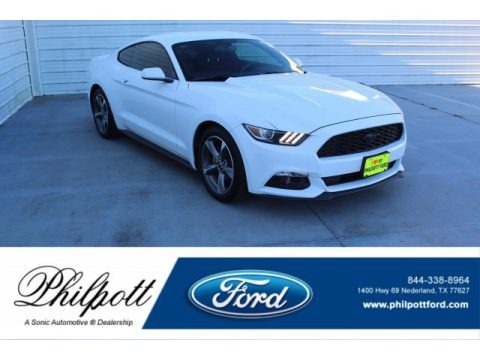 Oxford White 2015 Ford Mustang V6 Coupe