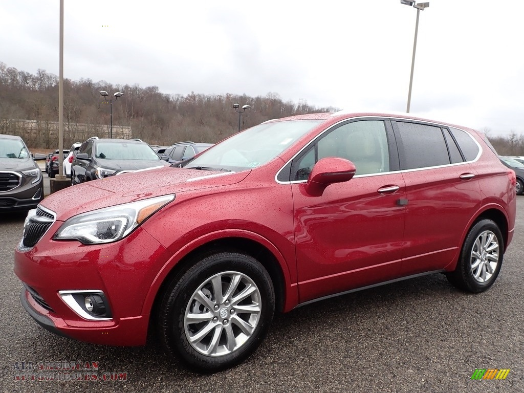 2020 Envision Essence AWD - Chili Red Metallic / Light Neutral photo #1
