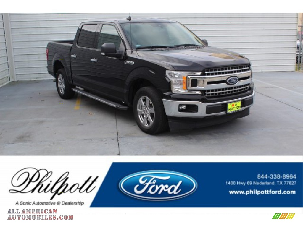 2019 F150 XLT SuperCrew 4x4 - Agate Black / Earth Gray photo #1