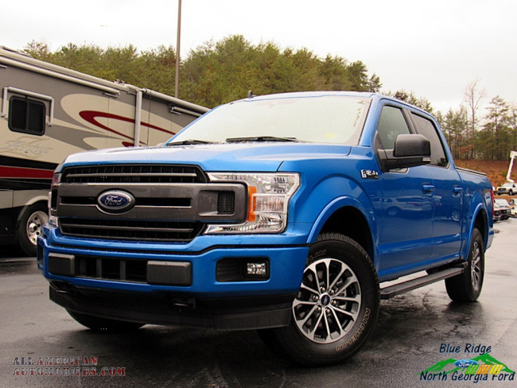 Velocity Blue / Earth Gray Ford F150 XLT SuperCrew 4x4
