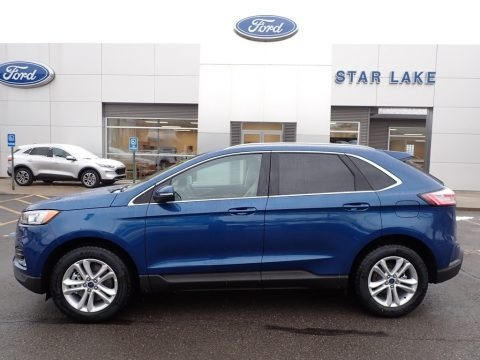 Atlas Blue Metallic 2020 Ford Edge SEL AWD