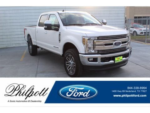 White Platinum 2019 Ford F250 Super Duty Lariat Crew Cab 4x4