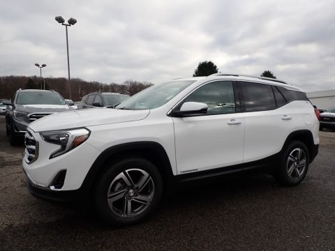 Summit White 2020 GMC Terrain SLT AWD