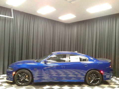 Indigo Blue 2019 Dodge Charger Scat Pack Stars & Stripes Edition