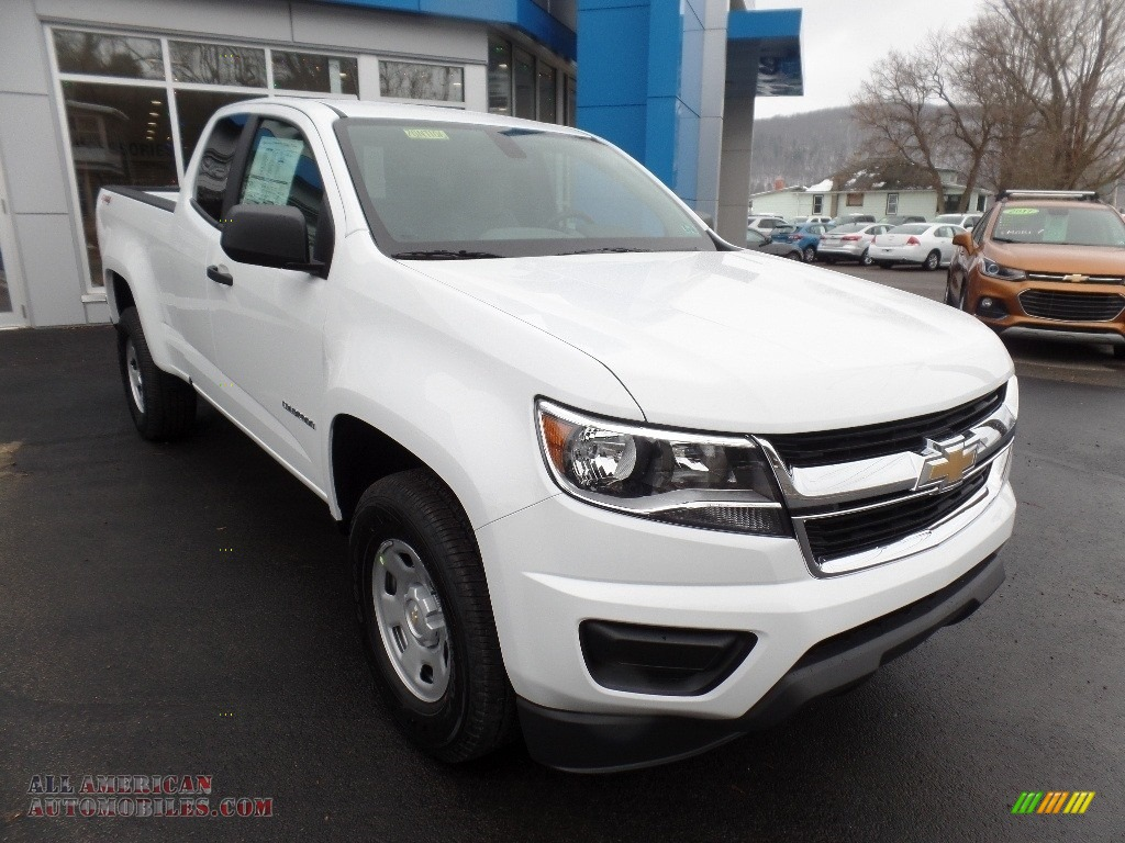 2020 Colorado WT Extended Cab 4x4 - Summit White / Ash Gray/Jet Black photo #1