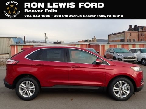 Rapid Red Metallic 2020 Ford Edge SEL AWD