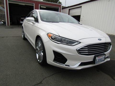 Oxford White 2019 Ford Fusion SEL